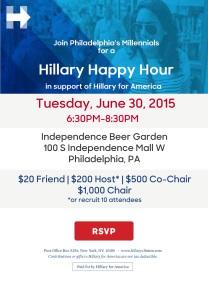 Hillary for America Millennials Invite_June30